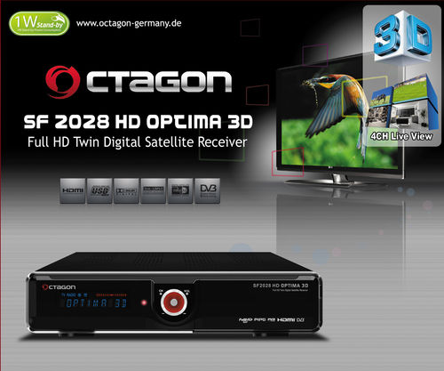 OCTAGON SF2028 Twin HD 3D OPTIMA